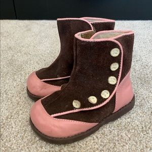 Darling See Kai Run genuine Leather boots sz. 6T